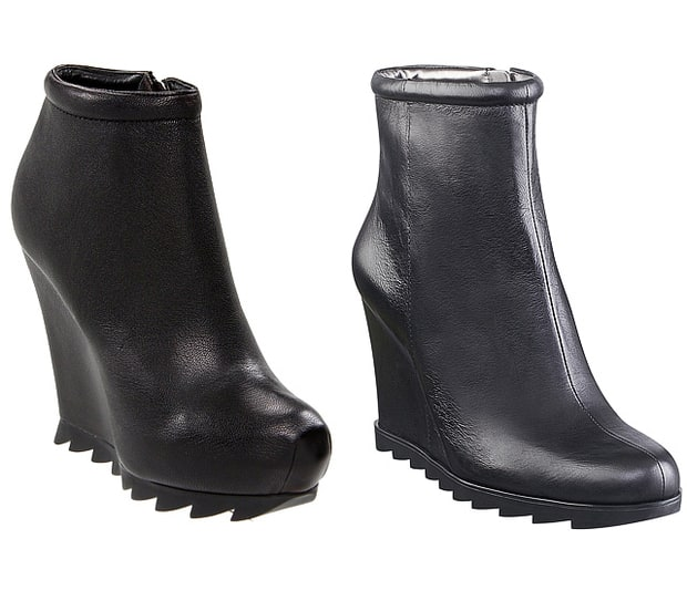 Edgy Black Wedge Boots