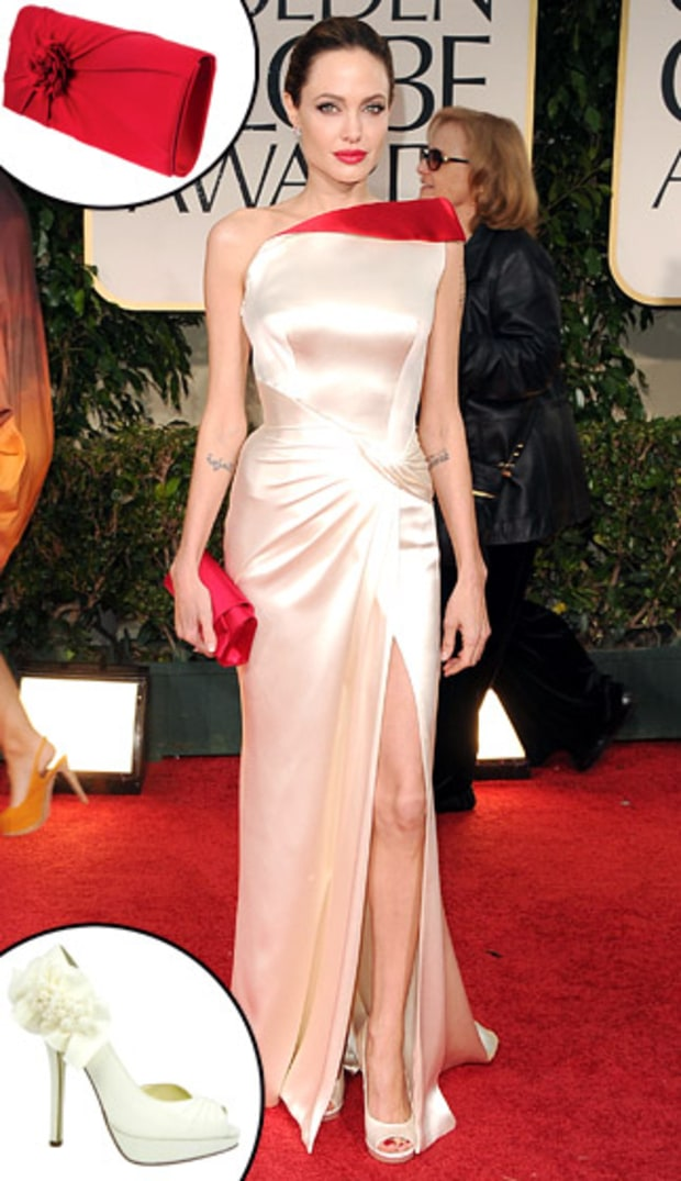 Angelina Jolie's Clutch and Shoes