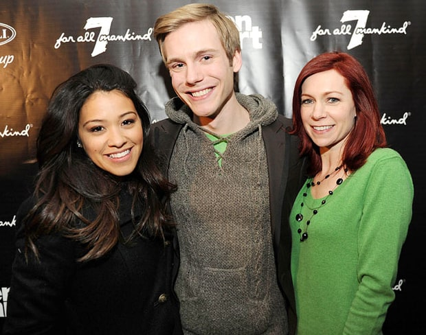 Gina Rodriguez, Zach Booth and Carrie Preston