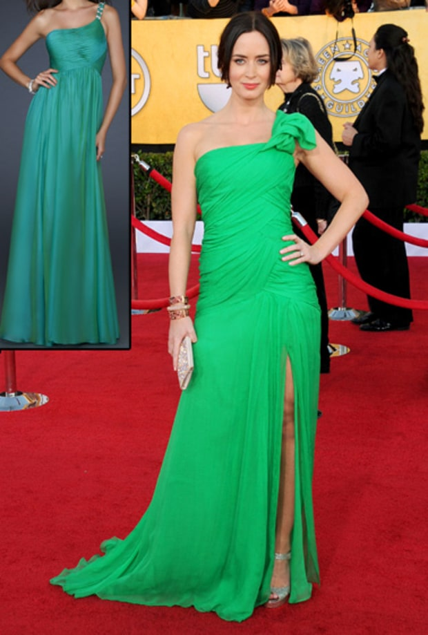 Emily Blunt's Green Gown