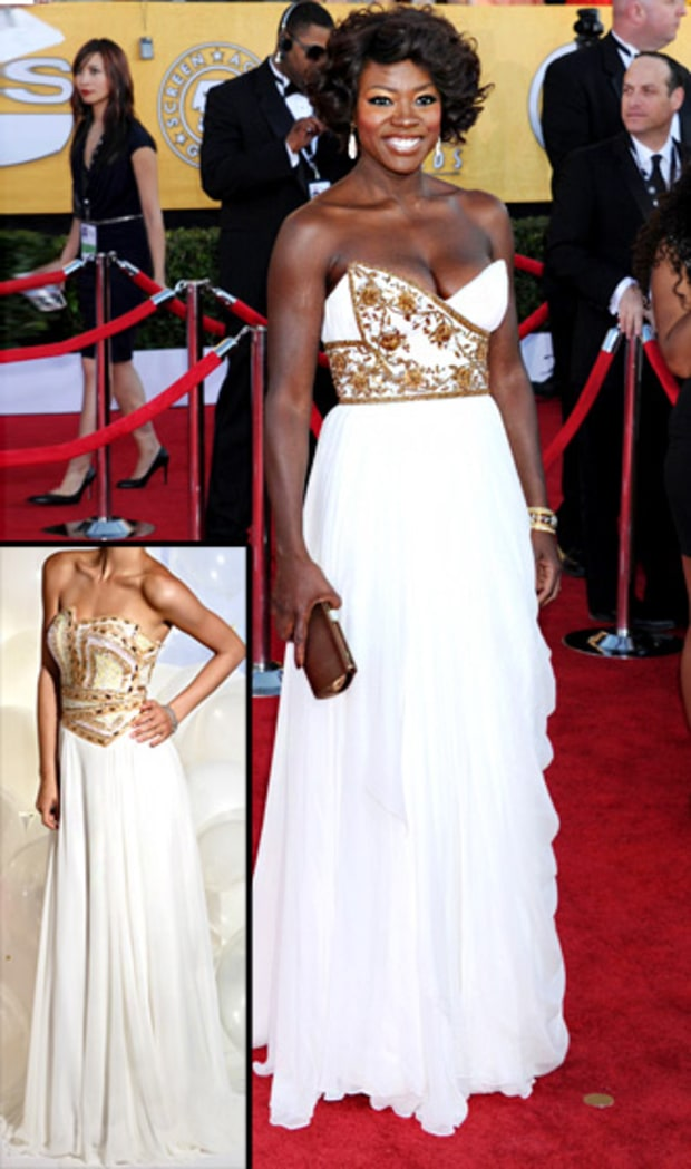 Viola Davis' Embellished White Dress