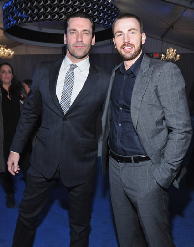 Jon Hamm and Chris Evans