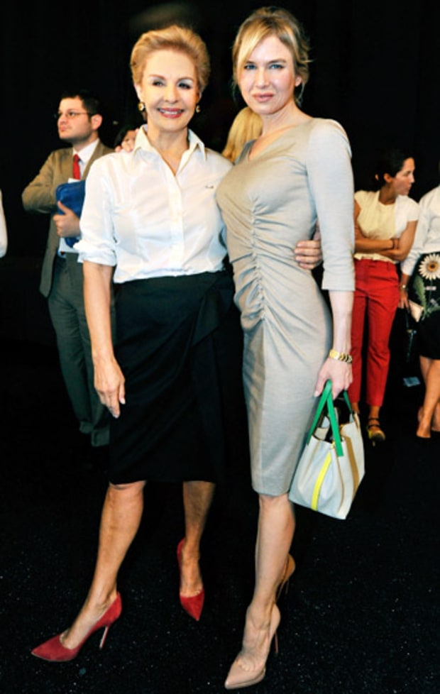 Renee Zellwegger and Carolina Herrera