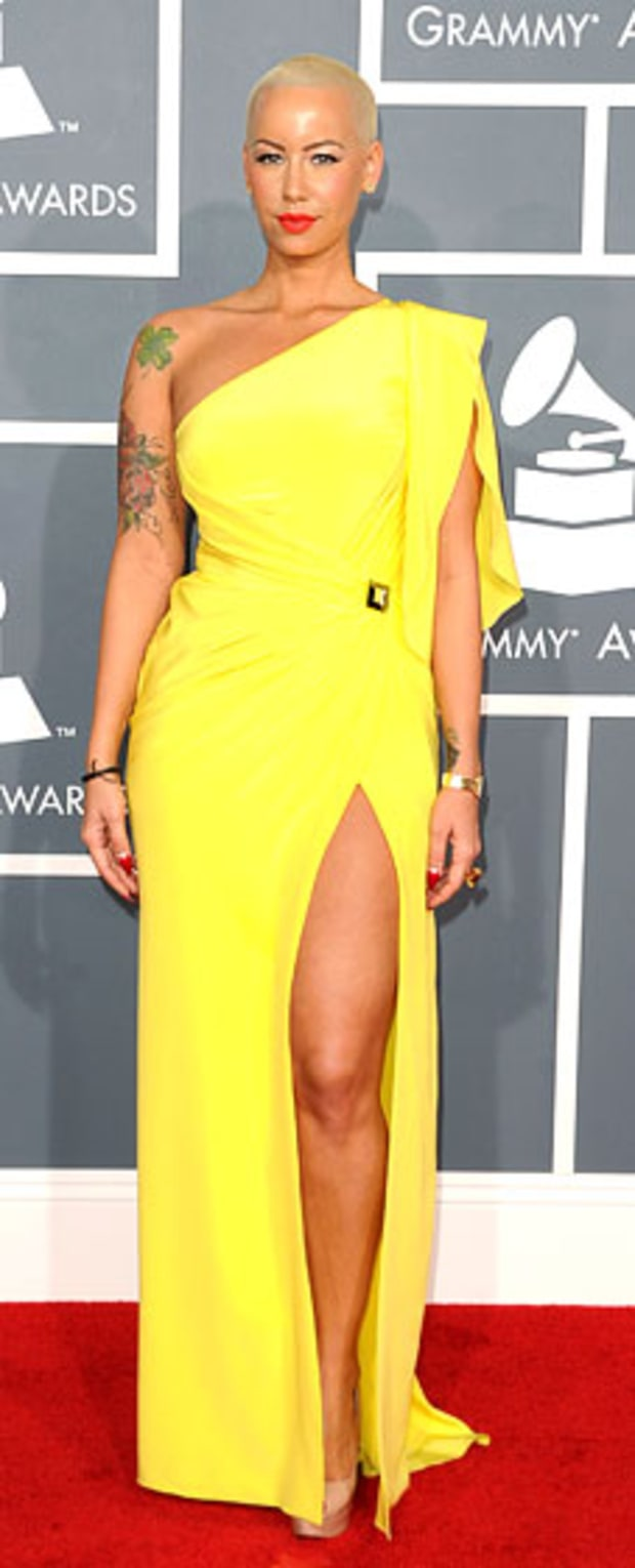 Amber Rose at the 2012 Grammy Awards