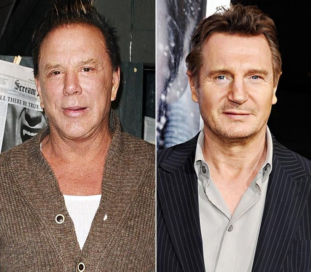 Mickey Rourke and Liam Neeson