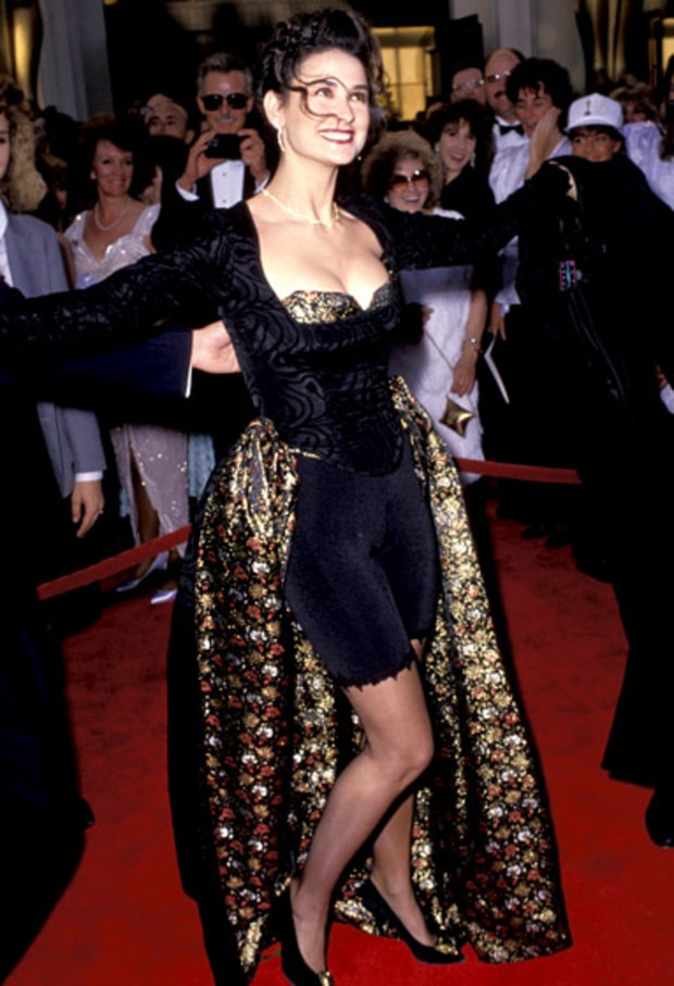 demi moore oscars worst dressed of all time us weekly