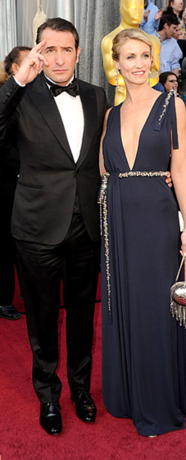 Jean Dujardin and Alexandra Lamy at the 84th Annual Academy Awards