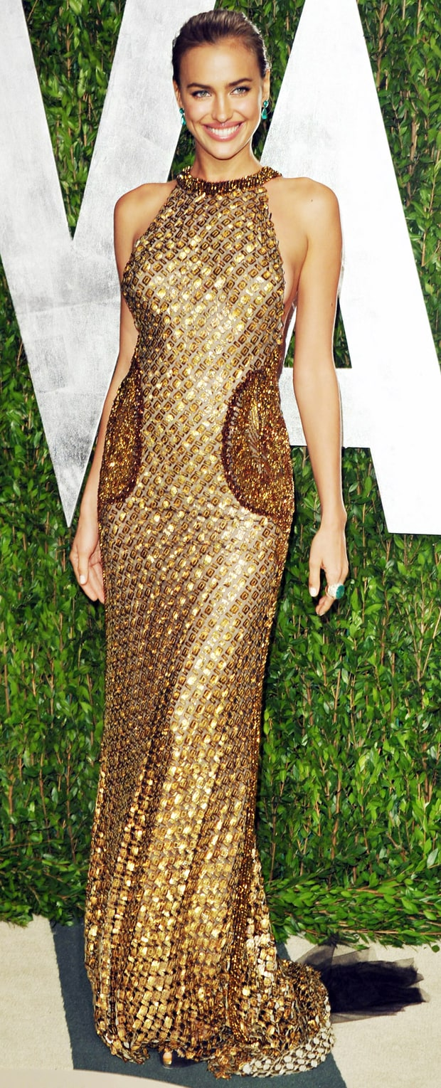 Irina Shayk at the 2012 Vanity Fair Oscar Party