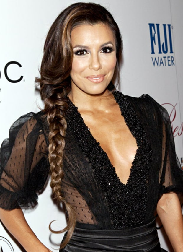 Eva Longoria's Side Braid