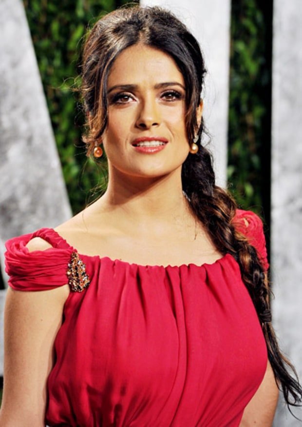 Salma Hayek's Side Braid
