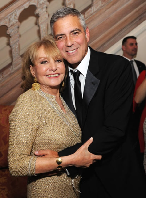 George Clooney and Barbara Walters