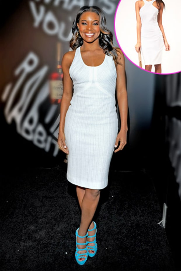 Gabrielle Union's Chic White Sheath