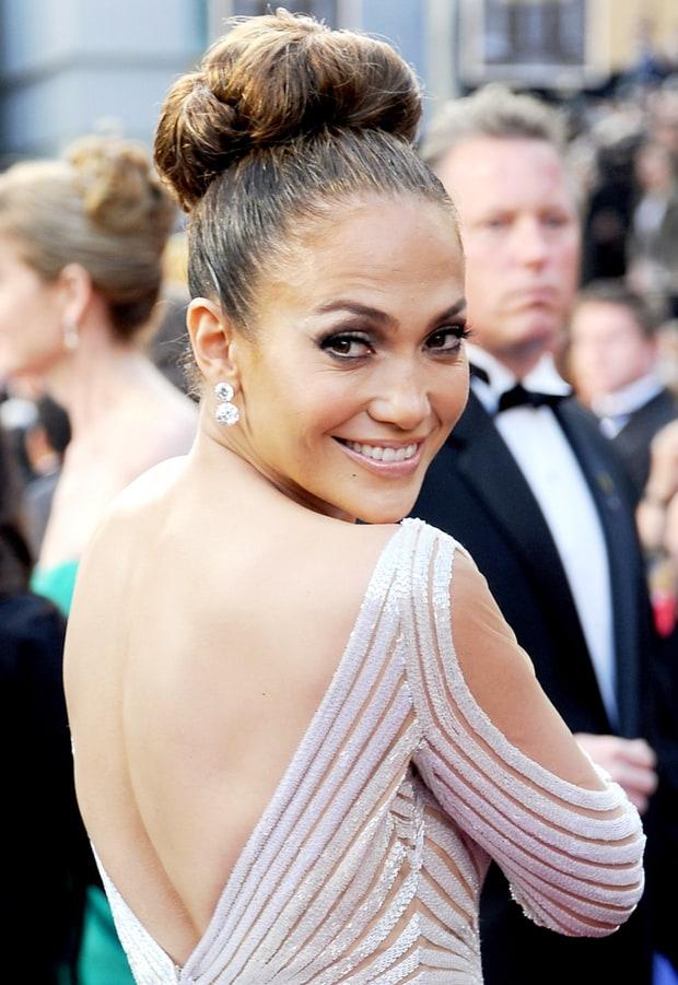 Super Elegant Updo Jennifer Lopez39S Best Hairstyles Ever Us Weekly Short Hairstyles Gunalazisus