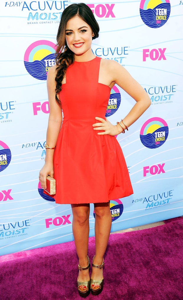 Lucy Hale Teen Choice Awards 2012 Us Weekly