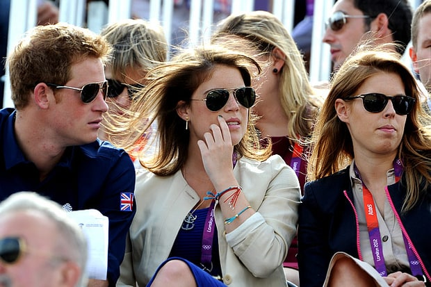 Prince Harry, Princess Eugenie and Princes Beatrice