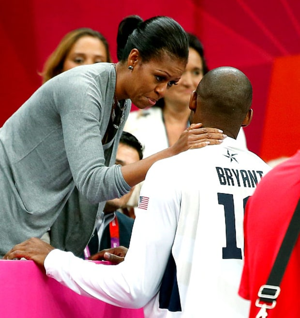 Michelle Obama and Kobe Bryant