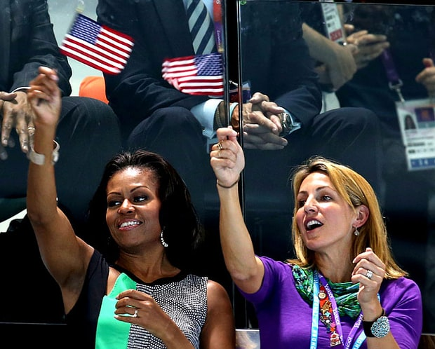 Michelle Obama and Summer Sanders