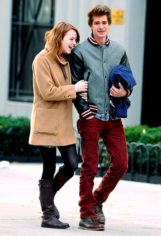 Cozy Costars | Emma Stone and Andrew Garfield's Sweetest ...