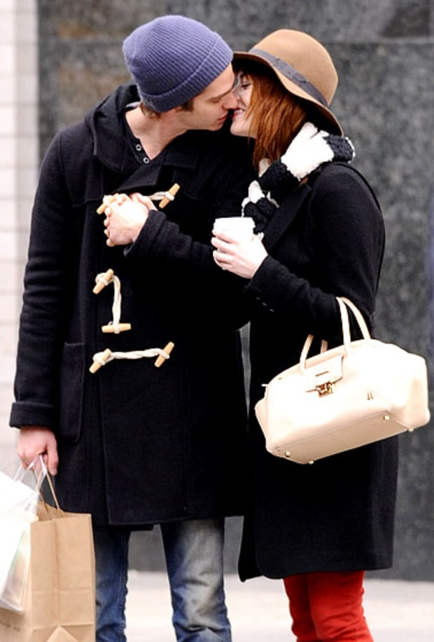 Cold-Weather Kiss | Emma Stone and Andrew Garfield's ...