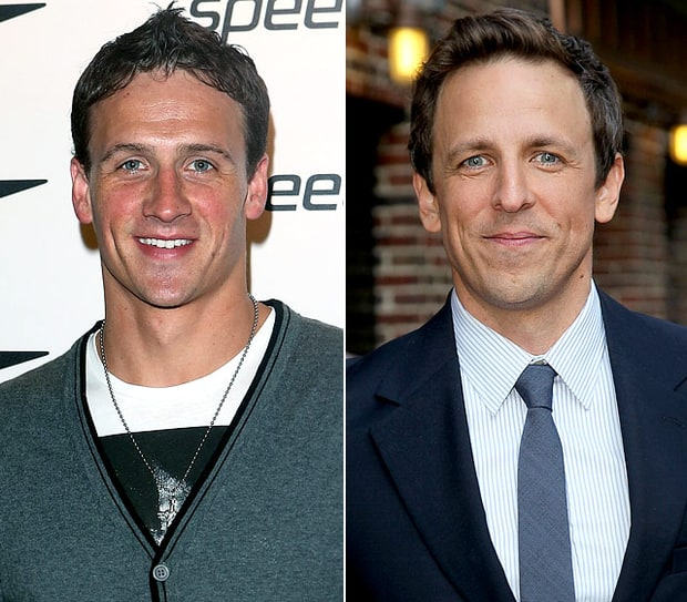 Ryan Lochte and Seth Meyers
