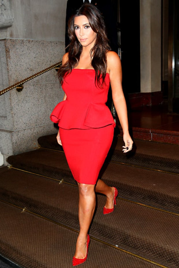 Kim Does Peplum