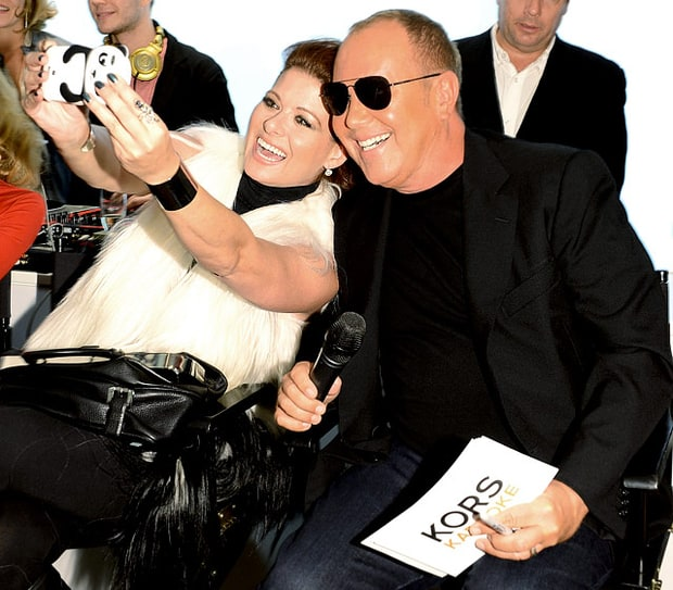 Debra Messing and Michael Kors