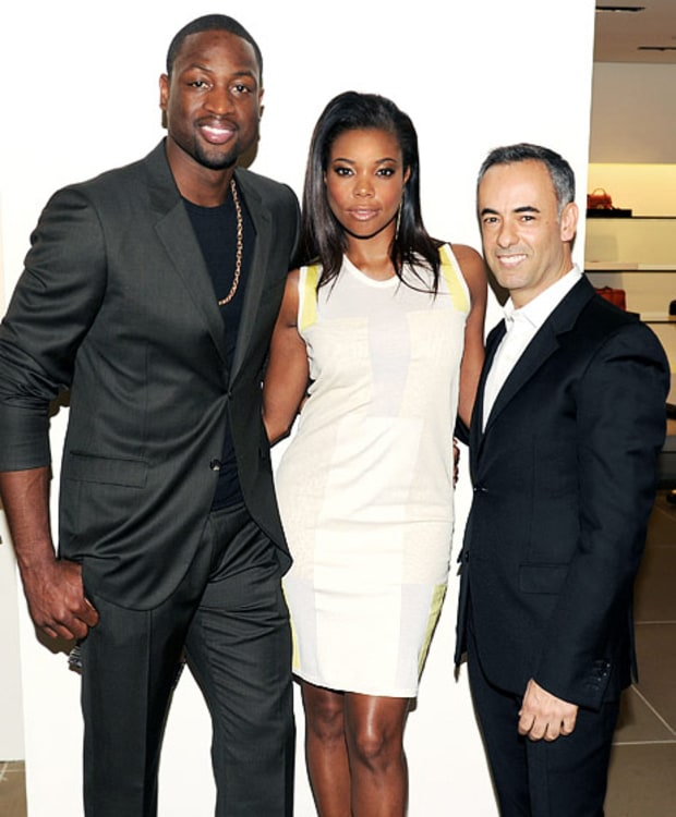 Dwyane Wade, Gabrielle Union and Francisco Costa