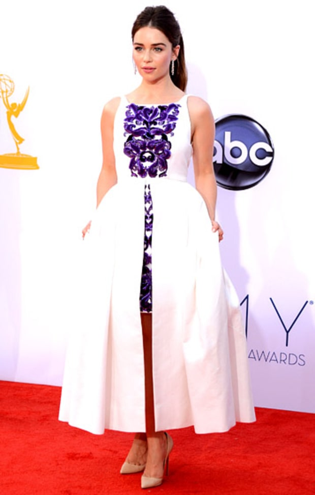 emilia clarke 2012 emmys what the stars wore us weekly