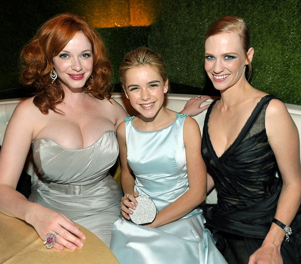 Christina Hendricks, Kiernan Shipka and January Jones