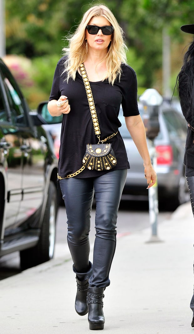 Leather-Clad Fergie