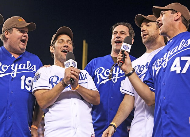 Eric Stonestreet, Paul Rudd, Jon Hamm, Jason Sudeikis and Rob Riggle