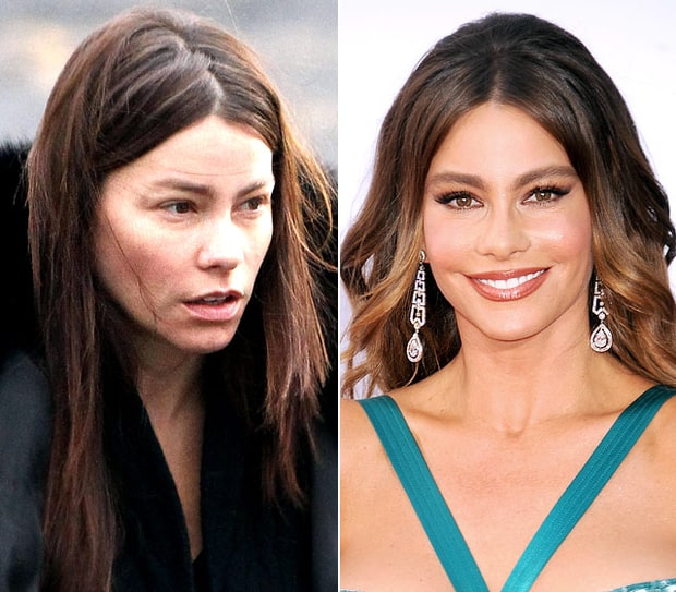 Sofia Vergara Natural Beauty Stars Without Makeup Us Weekly
