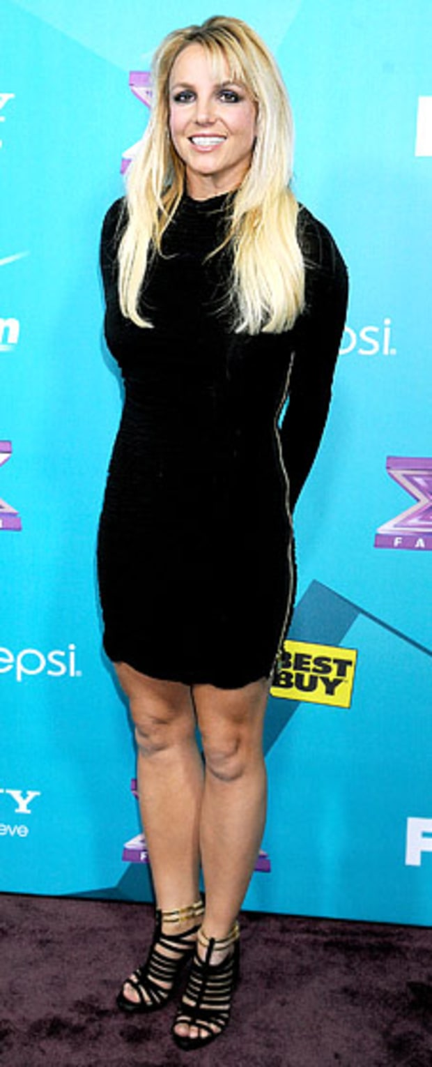 Britney Spears: X Factor Finalists Party