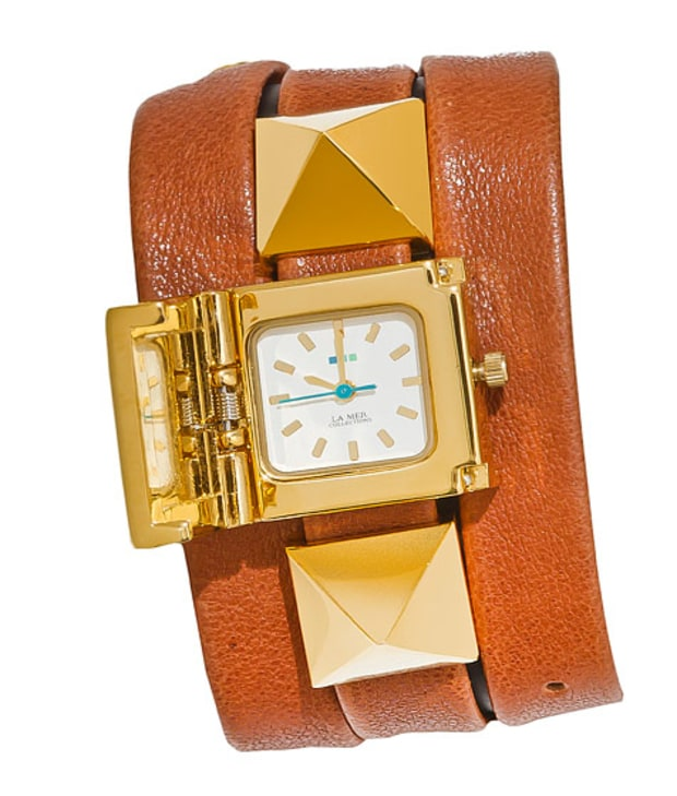 La Mer gold plated stainless-steel watch