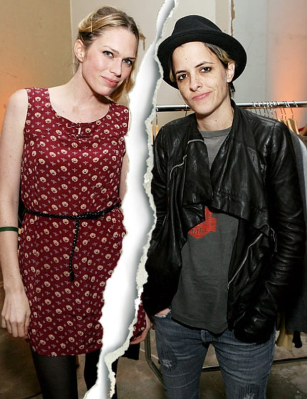Samantha Ronson and Erin Foster