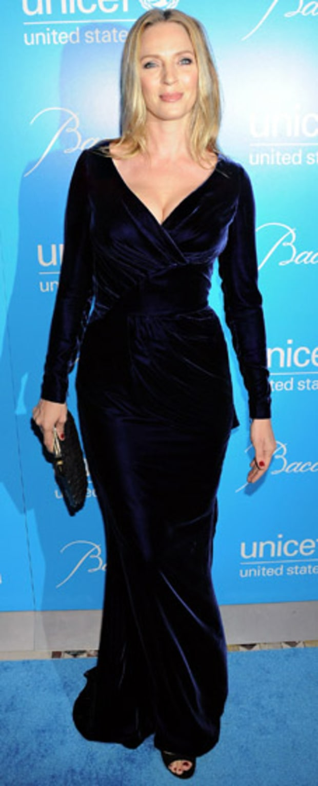 Uma Thurman: Unicef SnowFlake Ball
