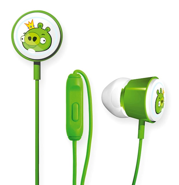 GEAR4 Angry Birds Pig King Earbud Headphones