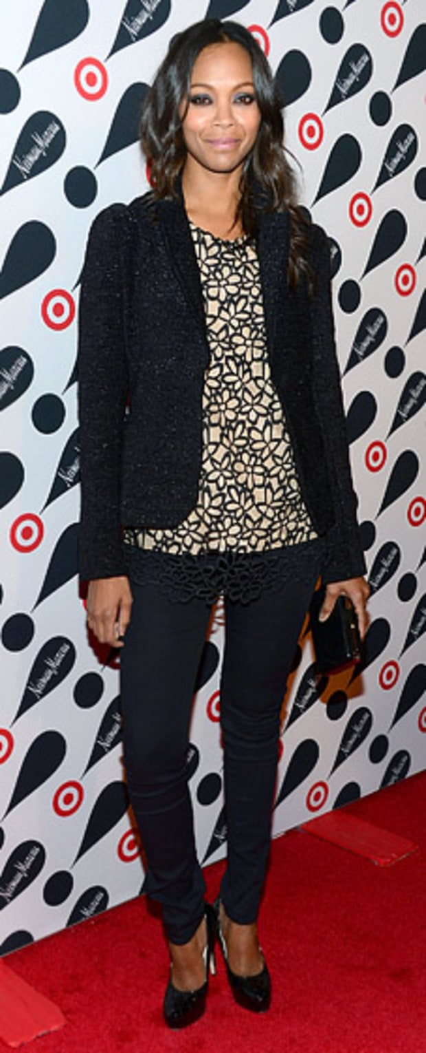 Zoe Saldana: Target + Neiman Marcus Holiday Collection Launch