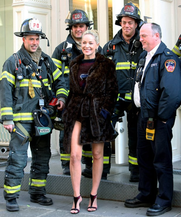 Sharon With NYC's Bravest
