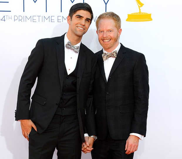 justin mikita and jesse tyler ferguson 2012 39 s celebrity engagements us weekly. Black Bedroom Furniture Sets. Home Design Ideas