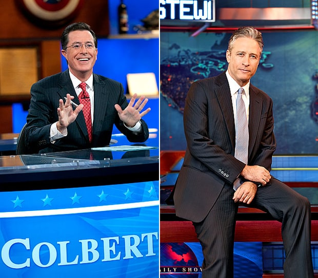 2. The Colbert Report and The Daily Show