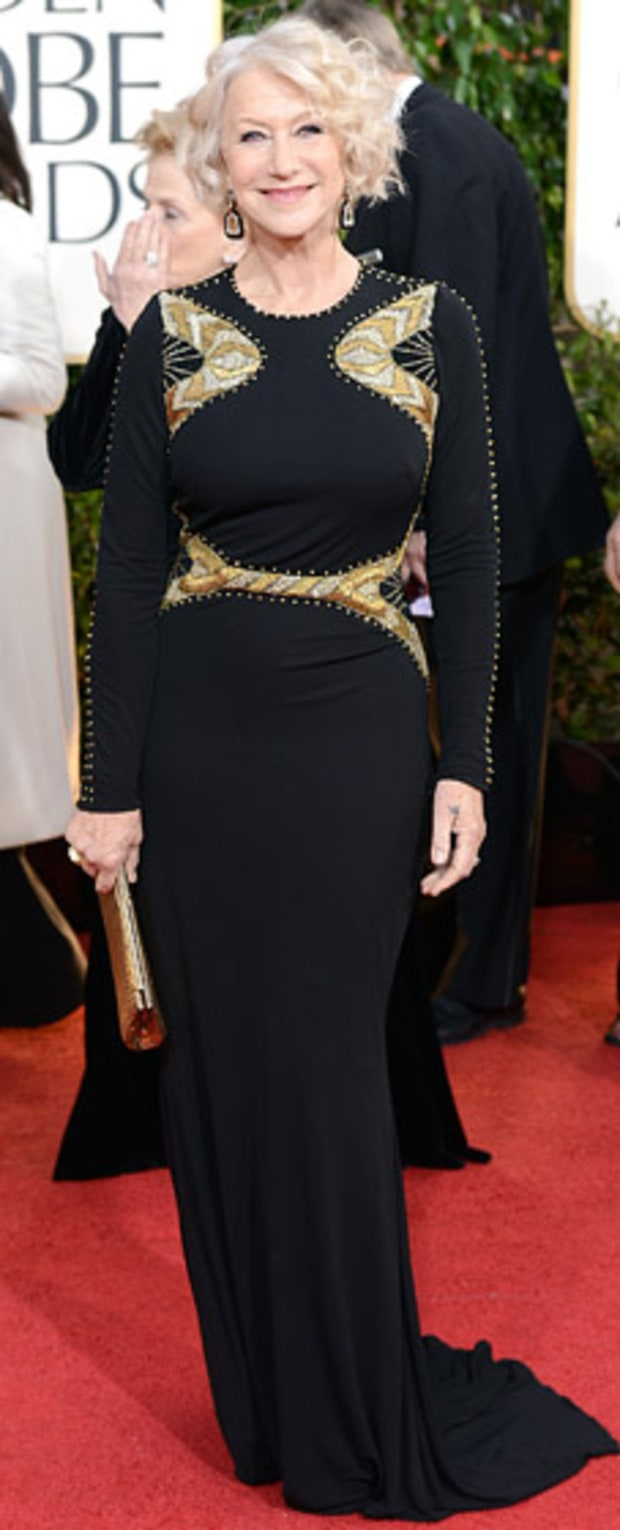 Helen Mirren at the 2013 Golden Globes