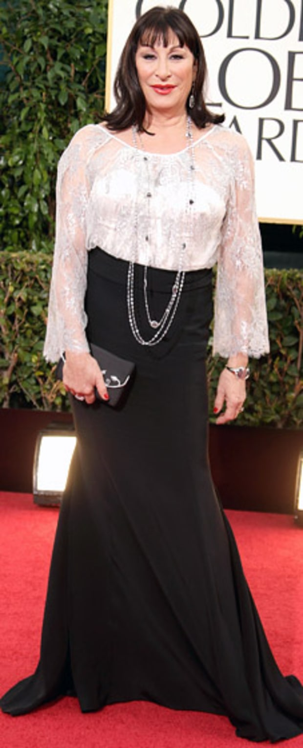 Anjelica Huston at the 2013 Golden Globes