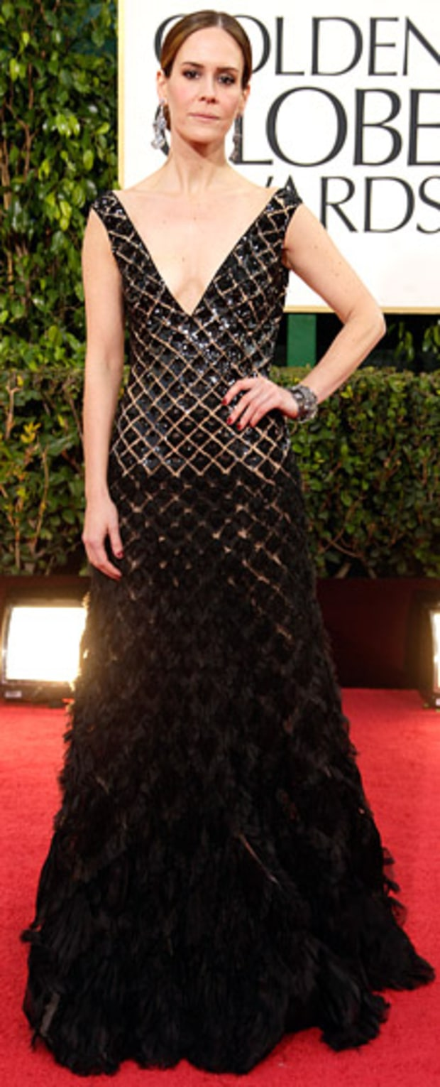 Sarah Paulson at the 2013 Golden Globes