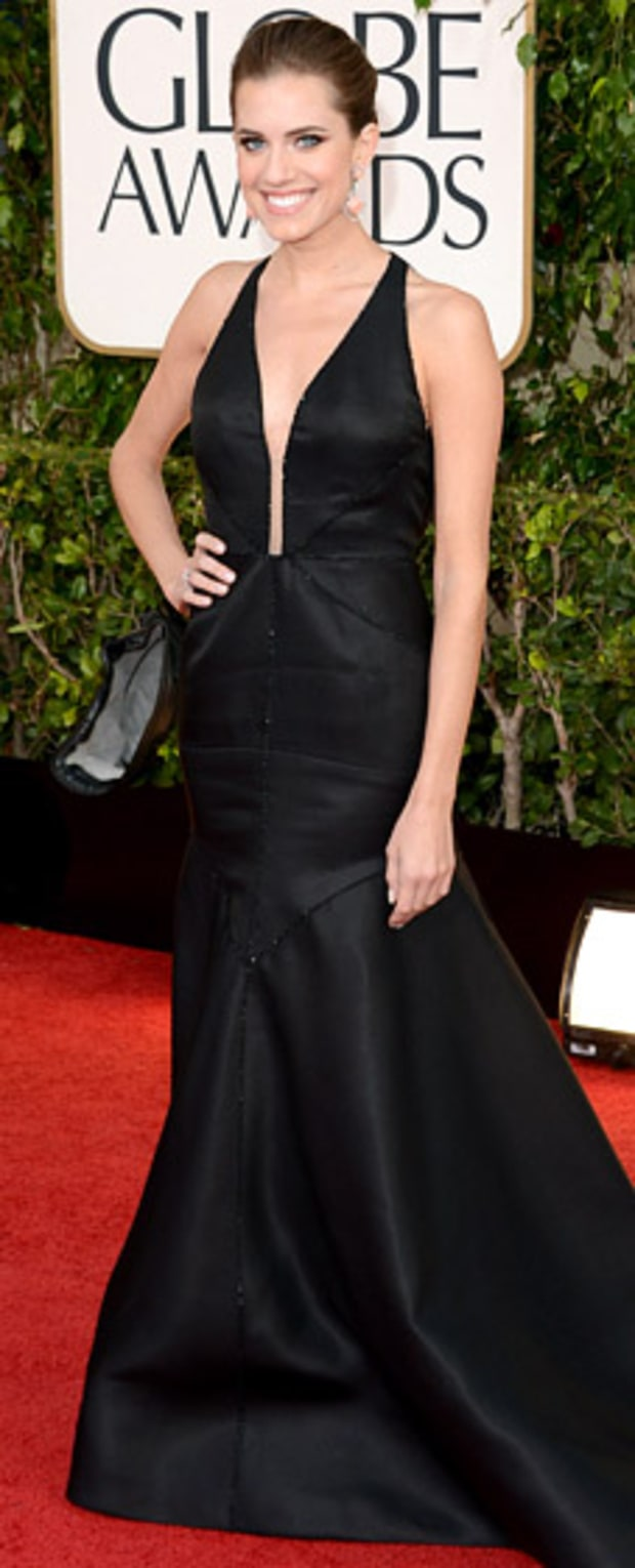 Allison Williams at the 2013 Golden Globes