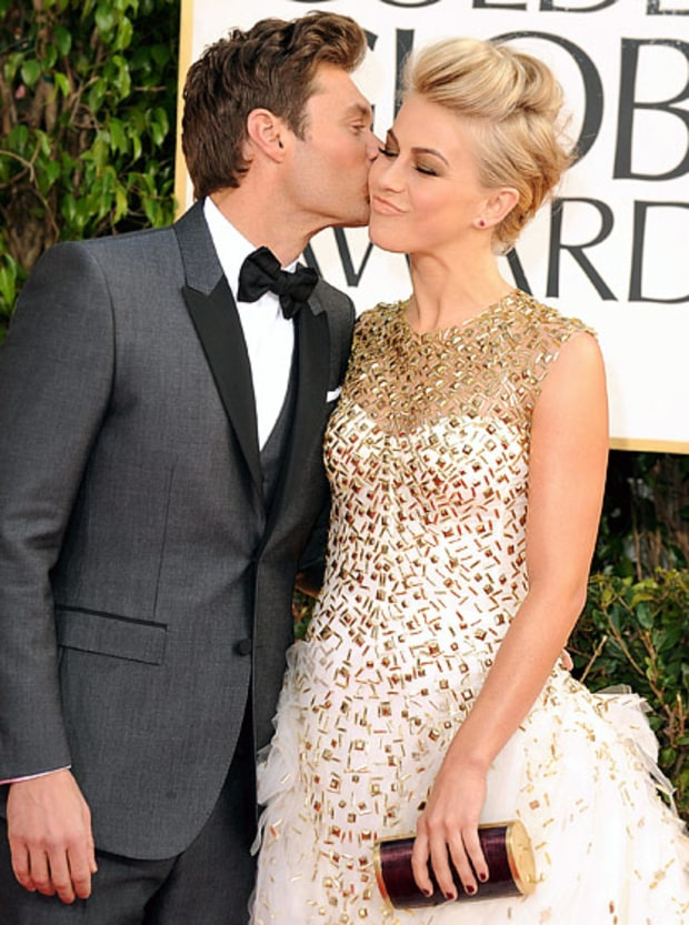Ryan Seacrest and Julianne Hough | Celebrity Golden Globes ...