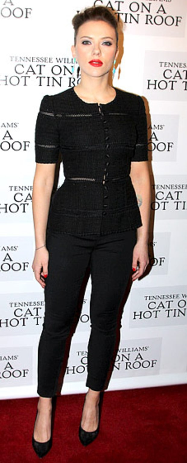 Scarlett Johansson: Opening Night Party for Cat on a Hot Tin Roof