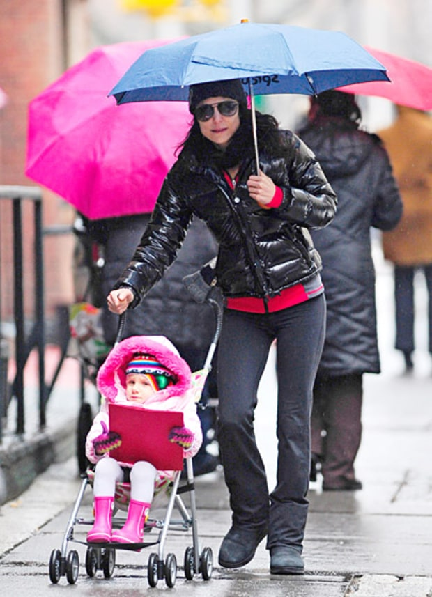 Bethenny Braves the Rain