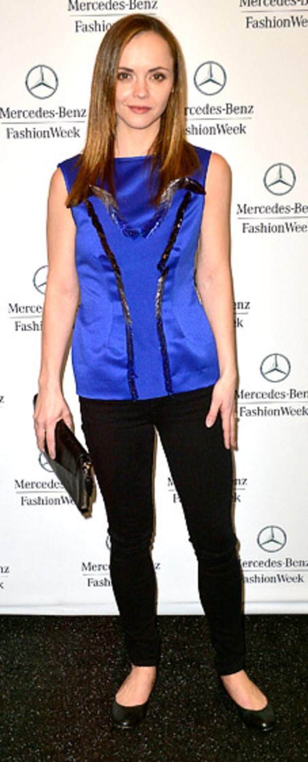 Christina Ricci: Fall 2013 Mercedes-Benz Fashion Week at Lincoln Center