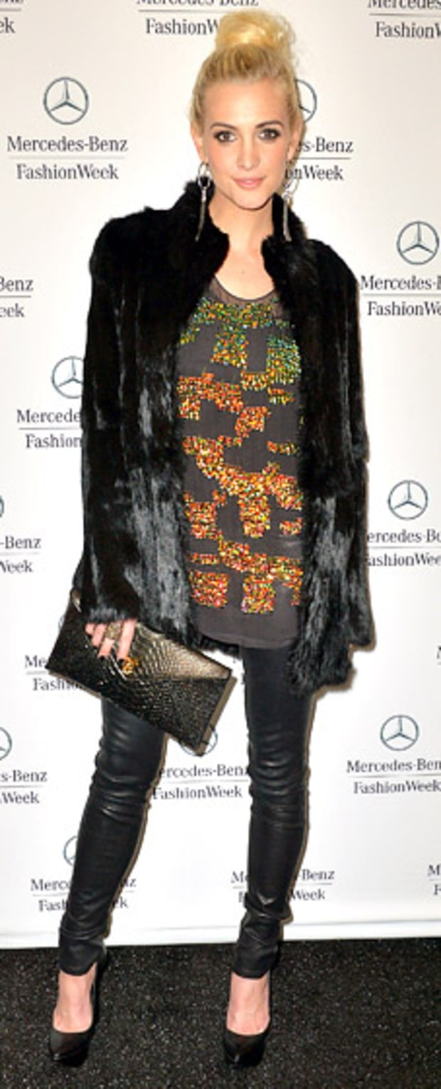 Ashley Simpson: Fall 2013 Mercedes-Benz Fashion Week at Lincoln Center